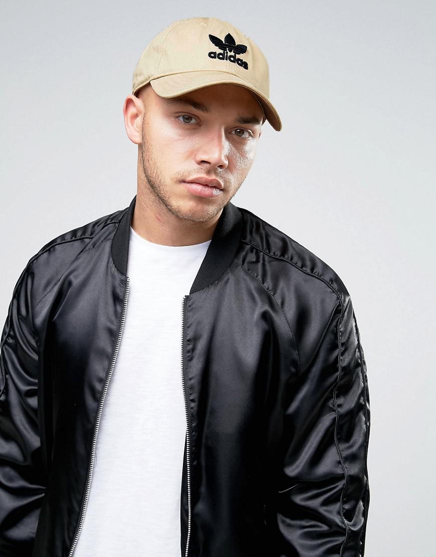 adidas originals trefoil cap in beige cd8802 52d5c4bcf9ae