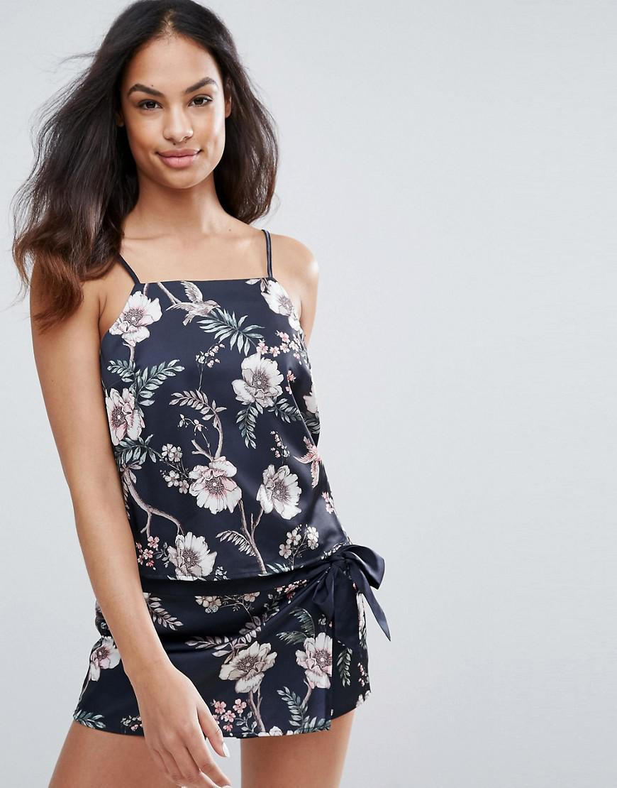 new look floral pajama cami top