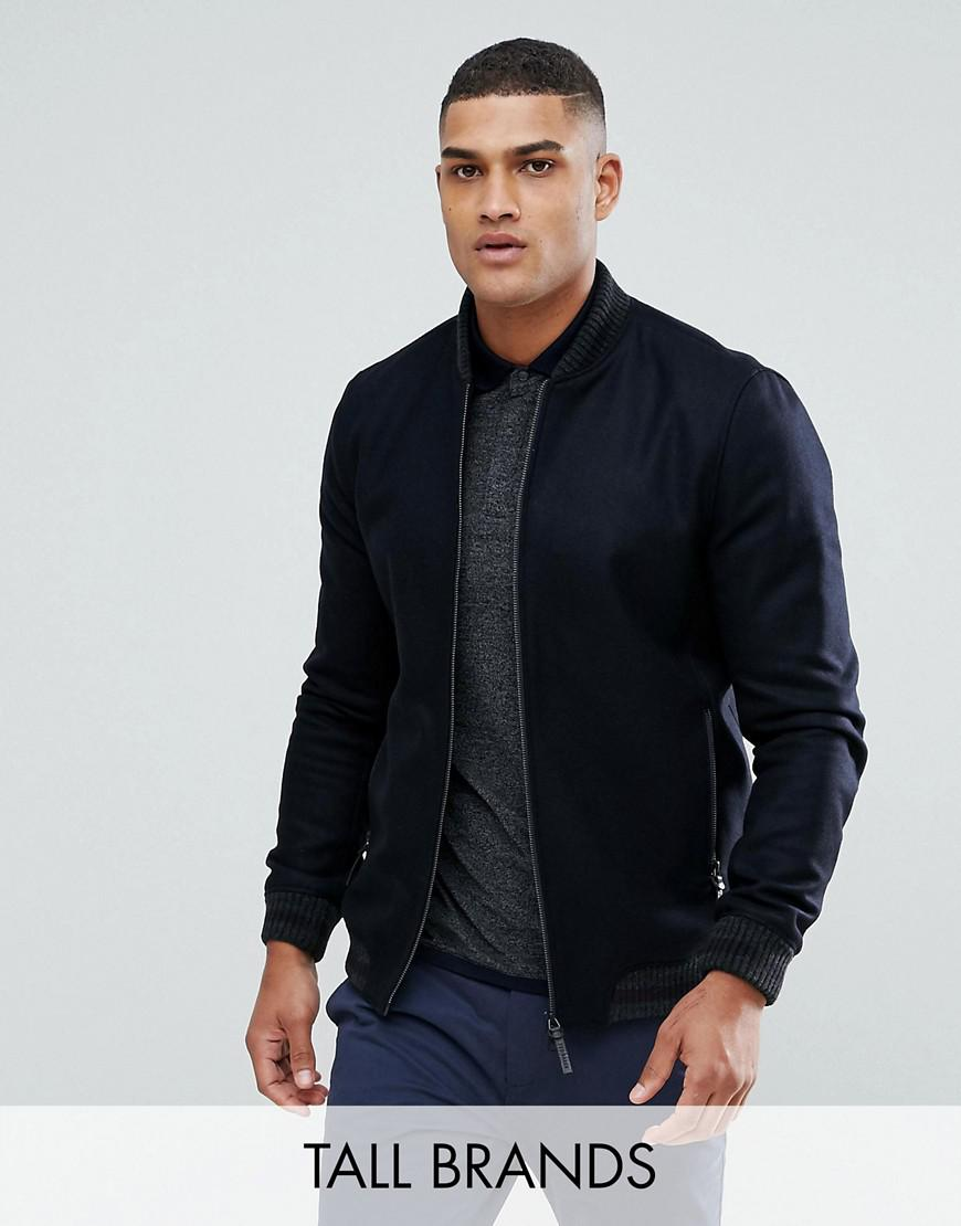 ted baker tall boiled wool bomber