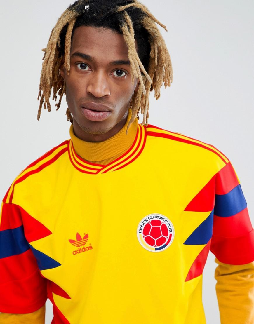 Fashion clothing | Adidas Originals Retro Colombia Soccer Jersey ...