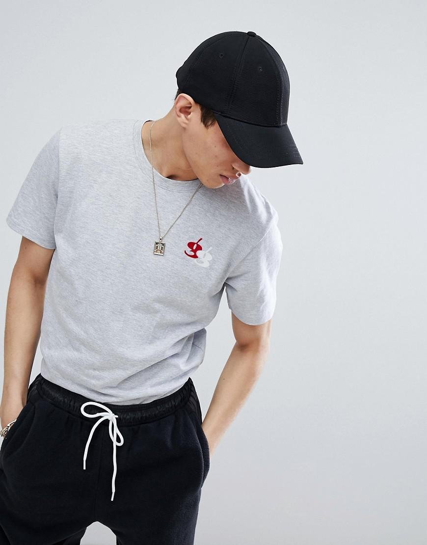 gio goi muscle t-shirt with embroidery