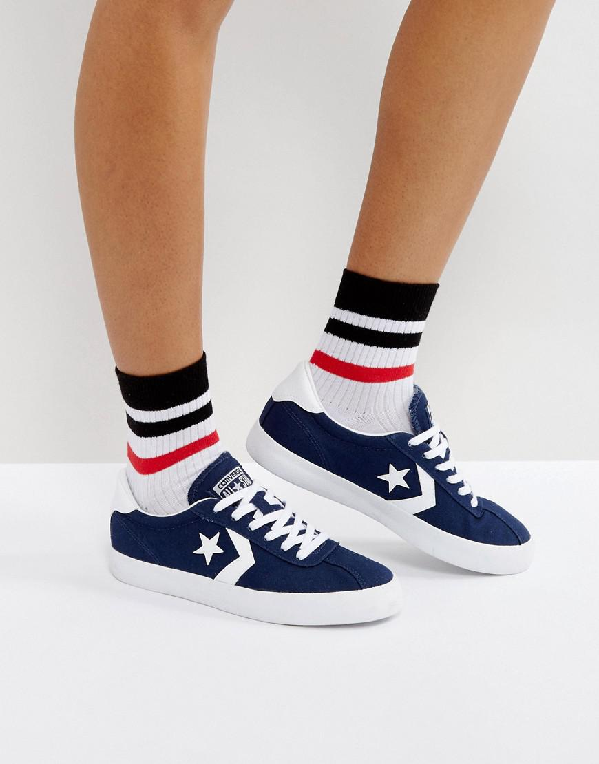 converse breakpoint canvas sneakers in navy