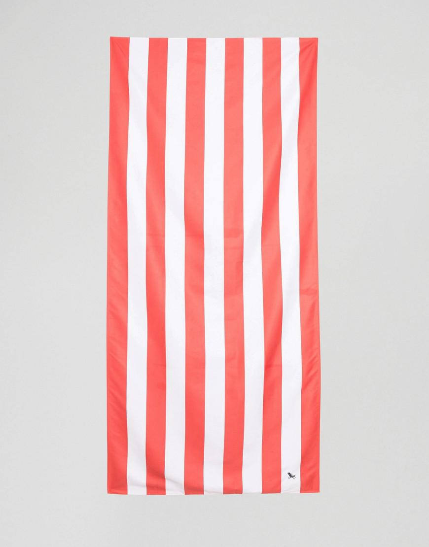 dock & bay extra large striped beach towel in red