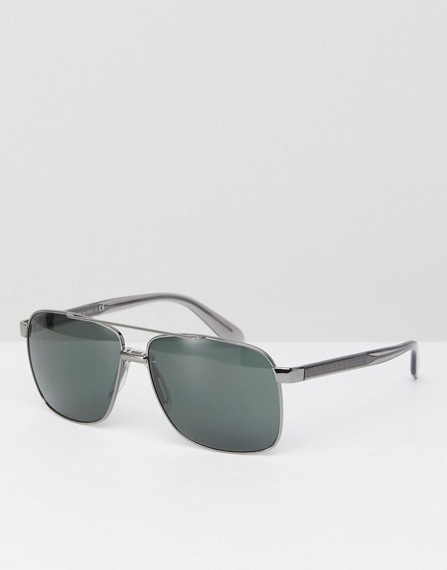 versace aviator sunglasses in silver 59mm