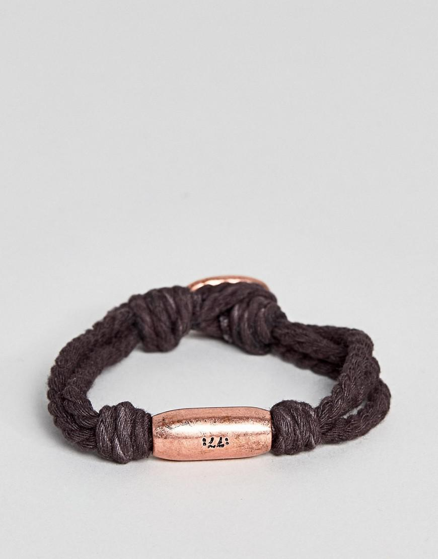 classics 77 sagres bracelet in brown & rose gold