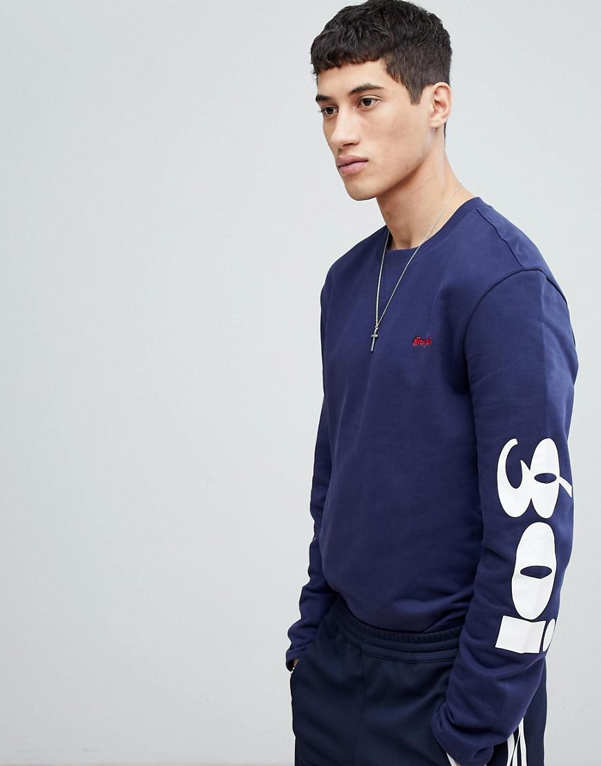 gio goi sweat with arm embroidery