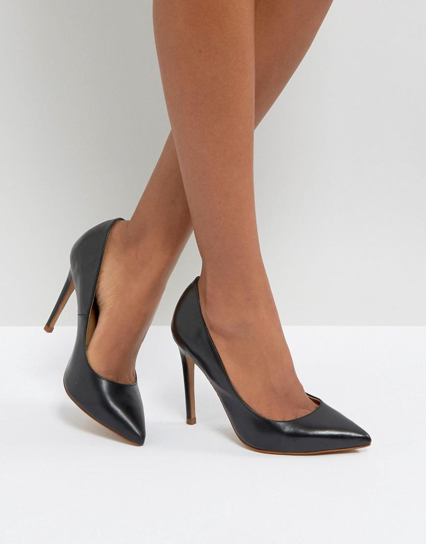 asos palma leather pointed high heels