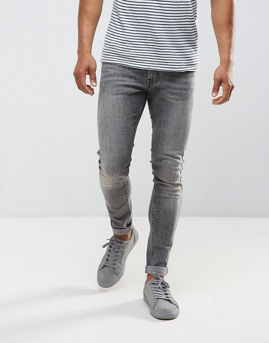 just junkies max super skinny jeans in gray wash