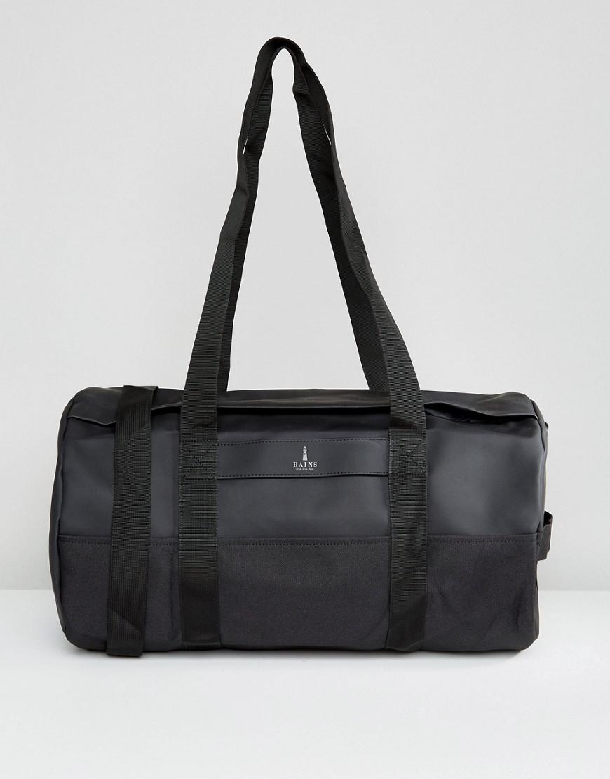 rains duffle bag in black