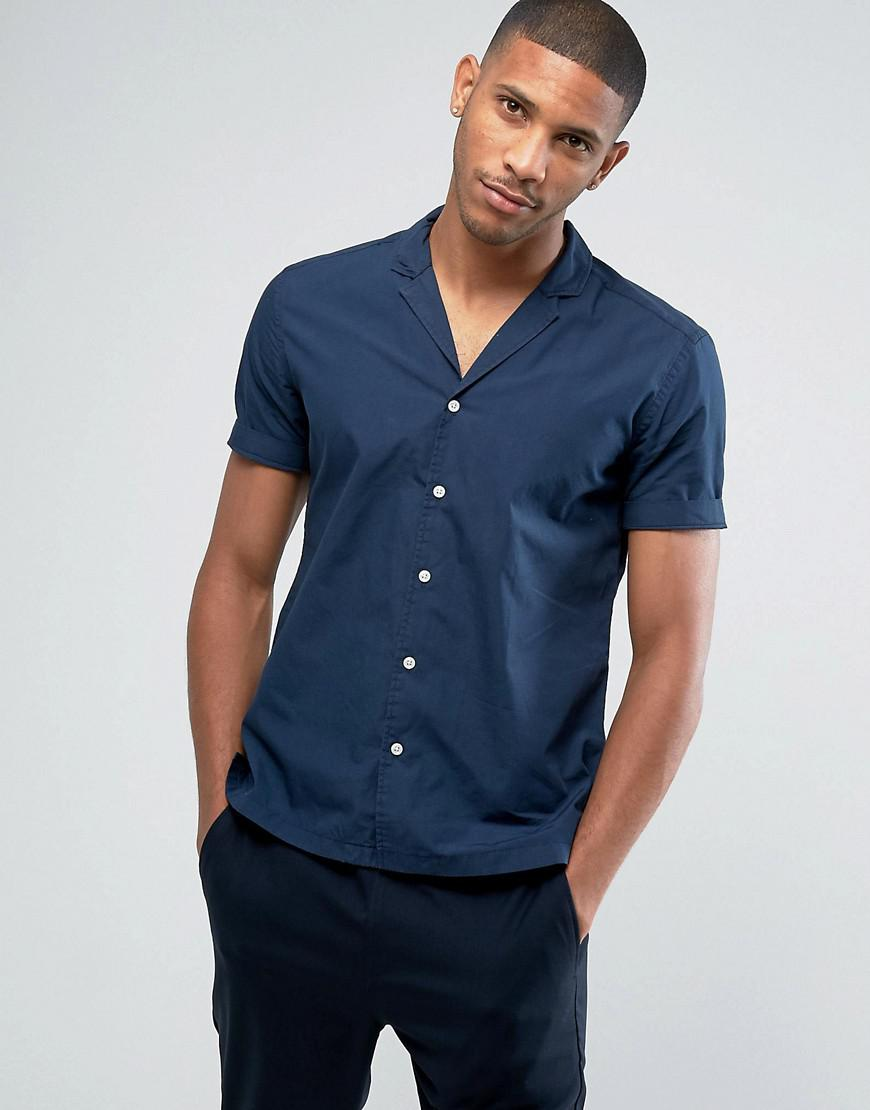 Fashion clothing esprit short sleeve shirt in slim fit for Fitted short sleeve dress shirts