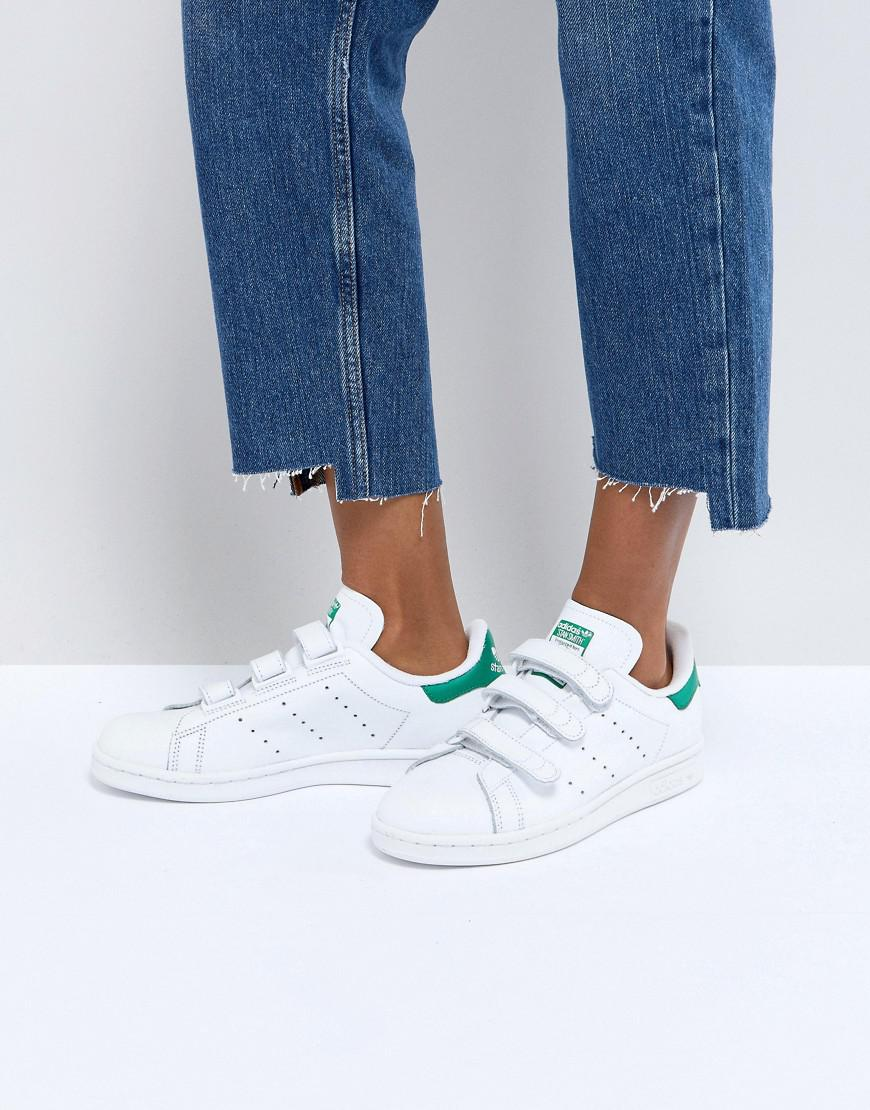 Fashion Shoes Adidas Originals White And Green Velcro
