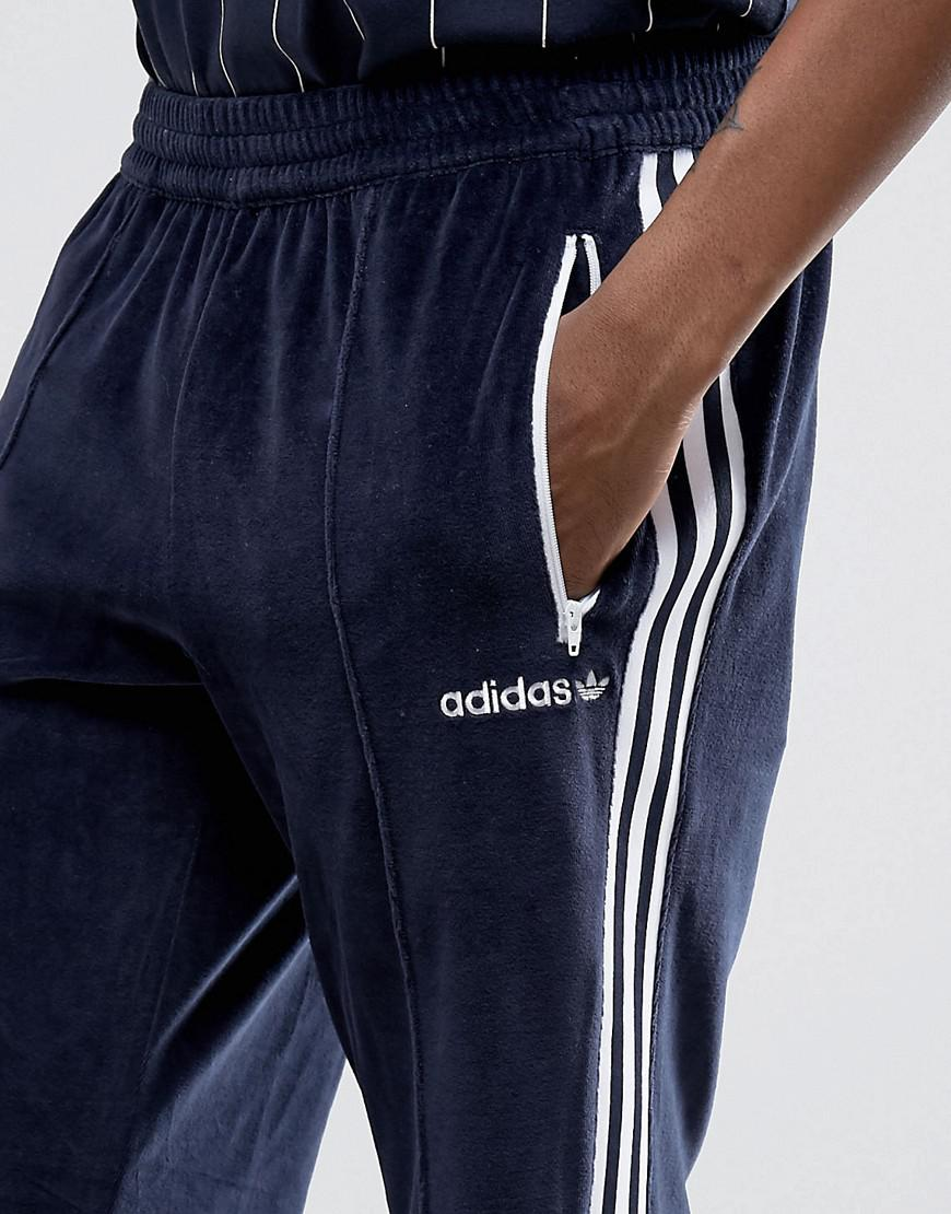 922f7d0fc79 Fashion clothing   Adidas Originals Osaka Velour Joggers In Navy Cv8960    Modysta