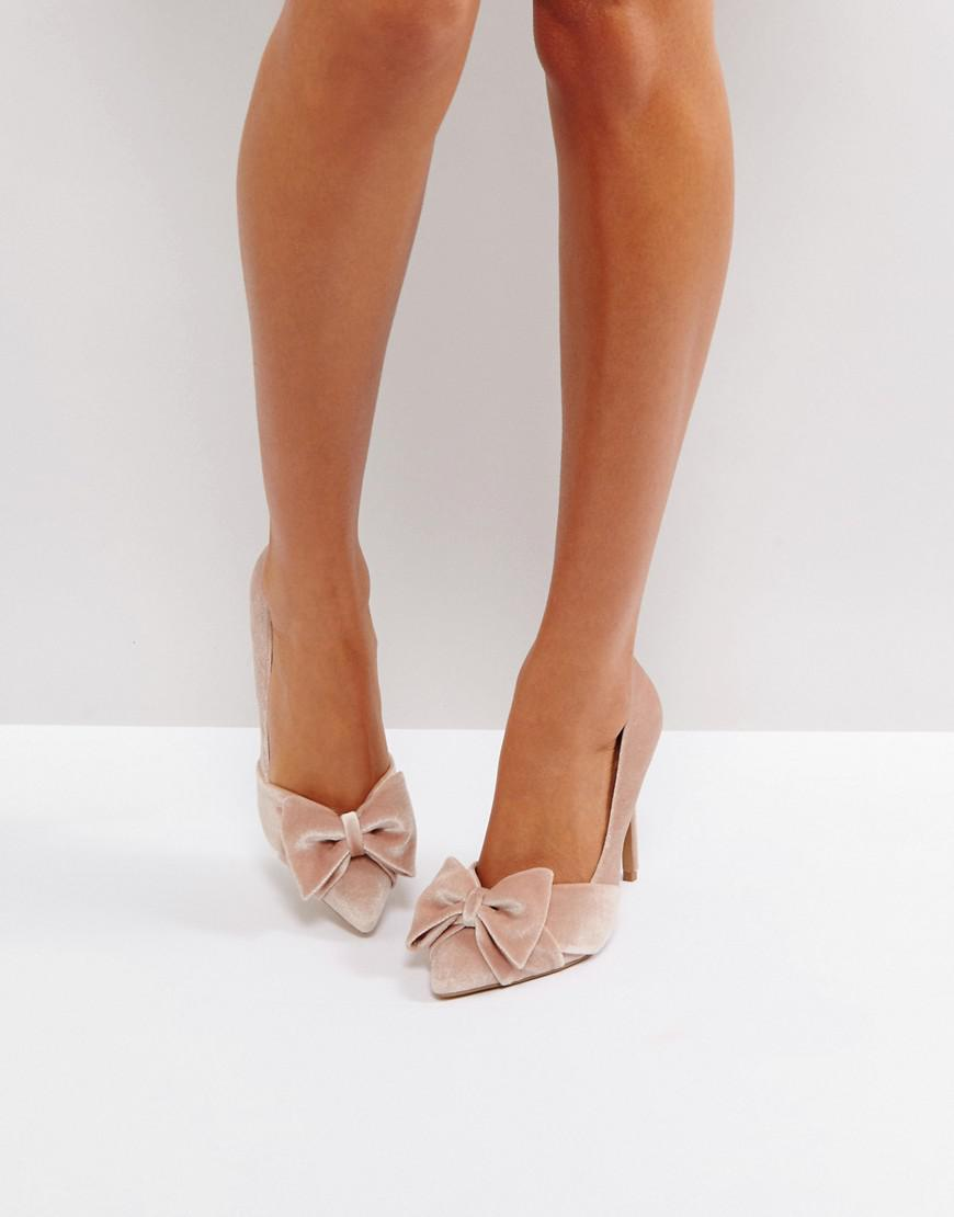 asos pretty bow pumps