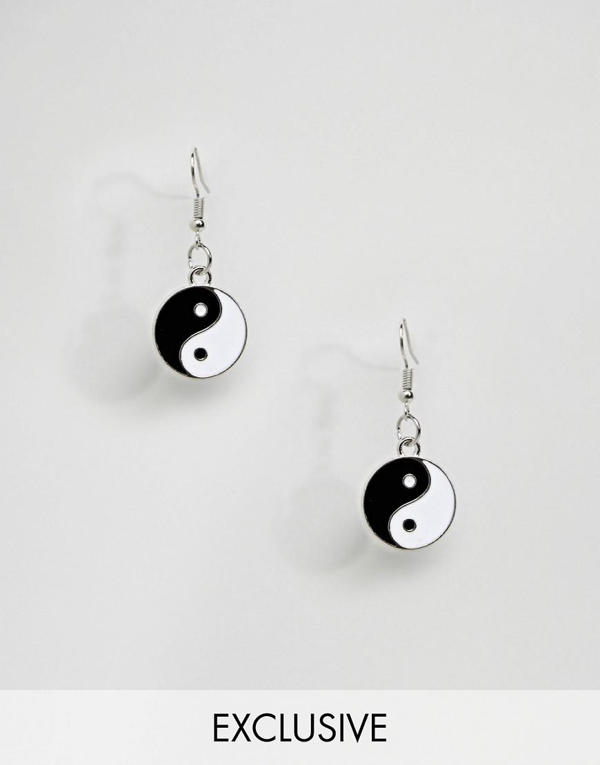 reclaimed vintage inspired earrings with yin yang