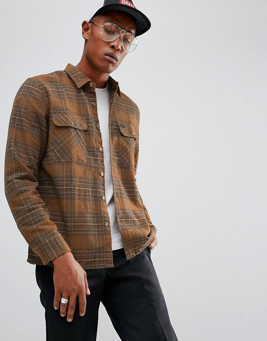 brixton archie flannel check shirt