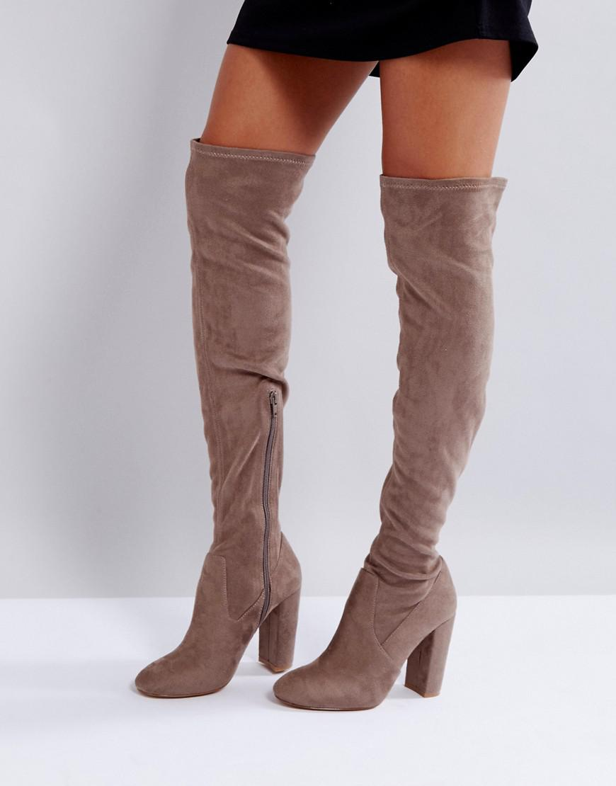 lipsy over the knee sock boot
