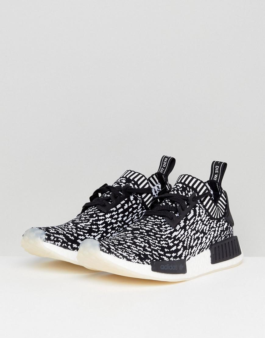 huge discount 73dcf 9b7be Adidas Originals Nmd R1 Primeknit Sneakers In Black By3013