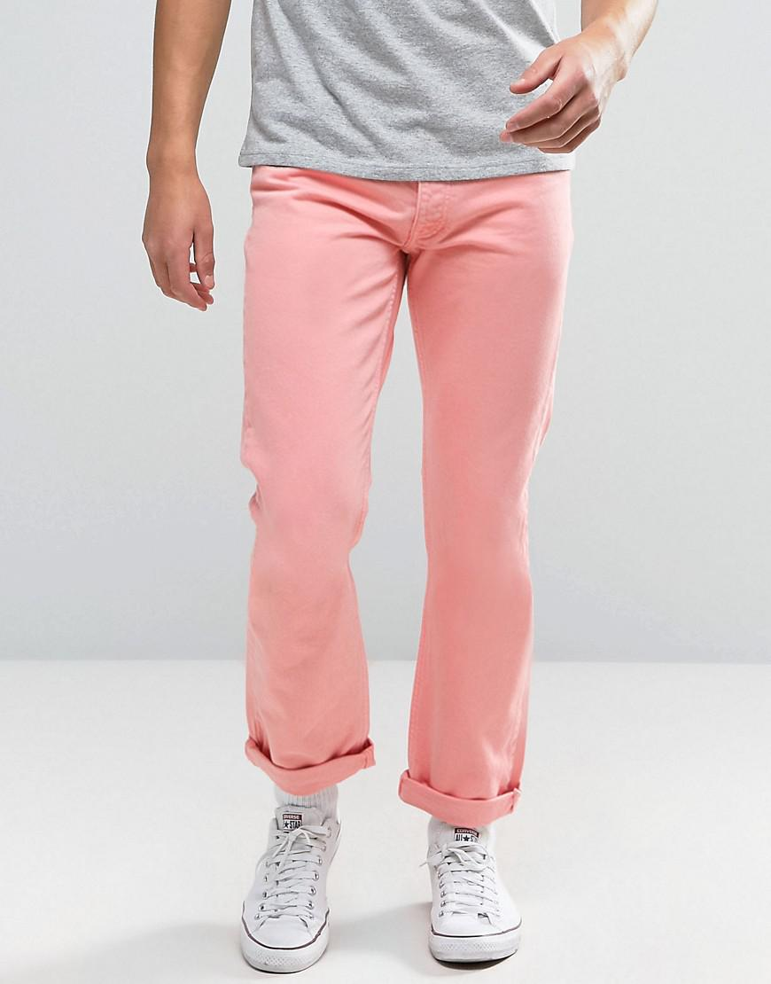tommy jeans 90s straight fit jeans m17 in pink