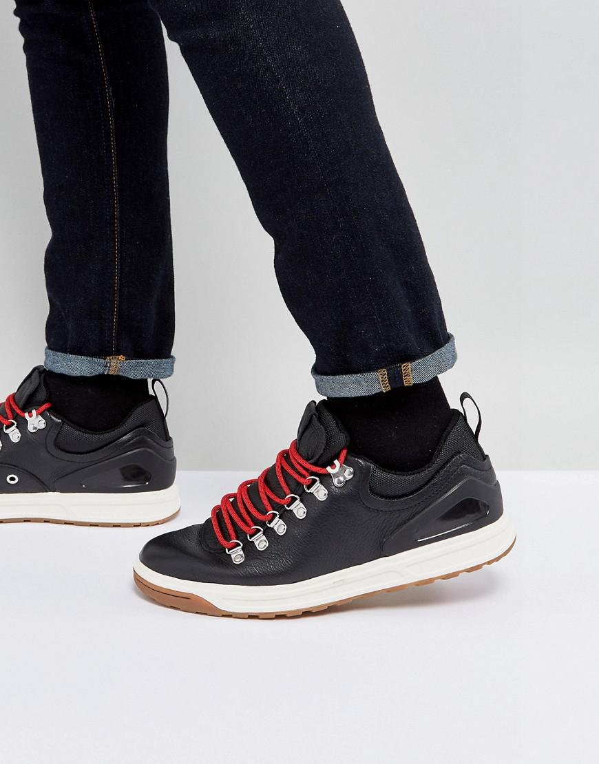 polo ralph lauren adventure trainers leather hiking in black