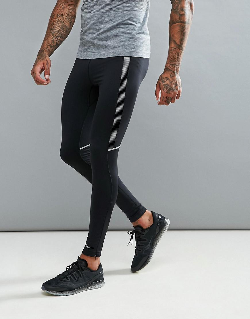 saucony running omni lx tights in black sa81249-bkbk