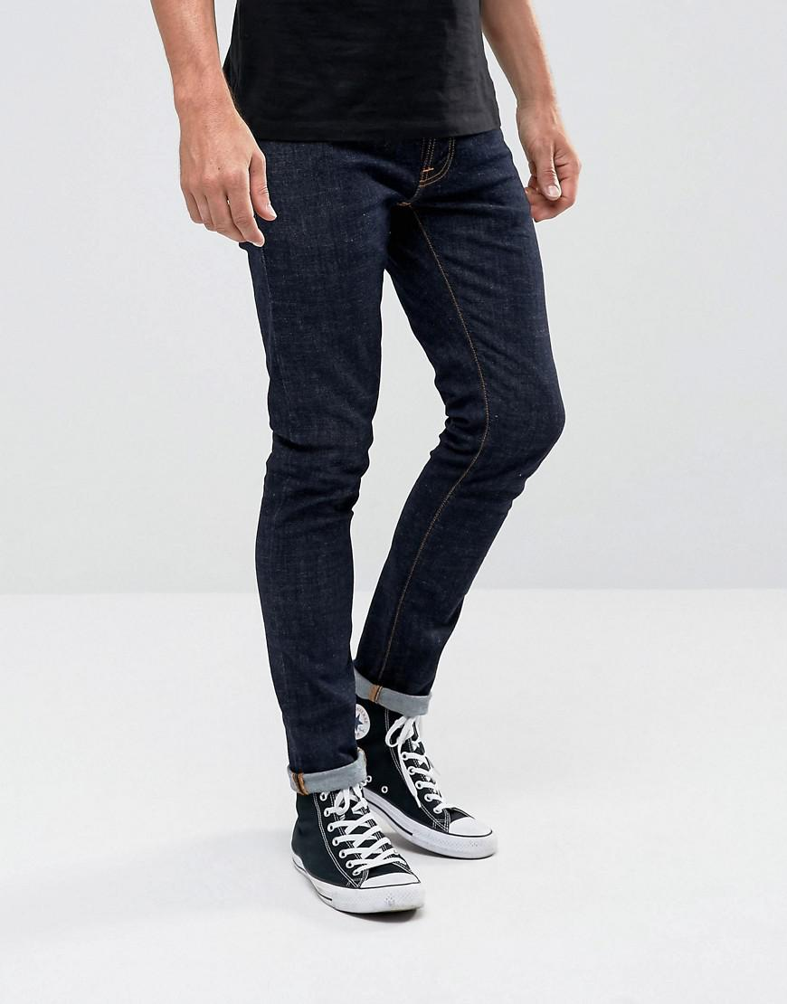 nudie jeans co tight terry super skinny jean rinse twill wash