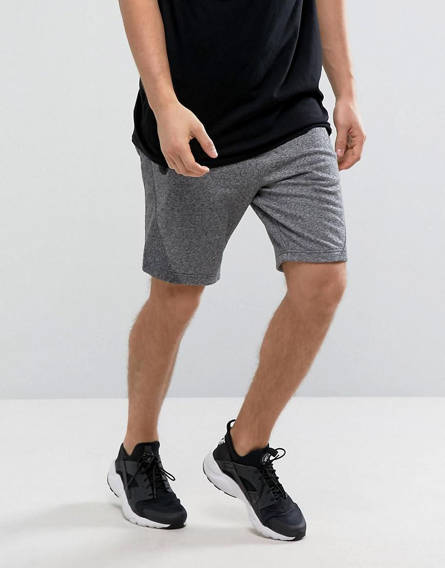 abercrombie & fitch sports shorts stretch in charcoal marl