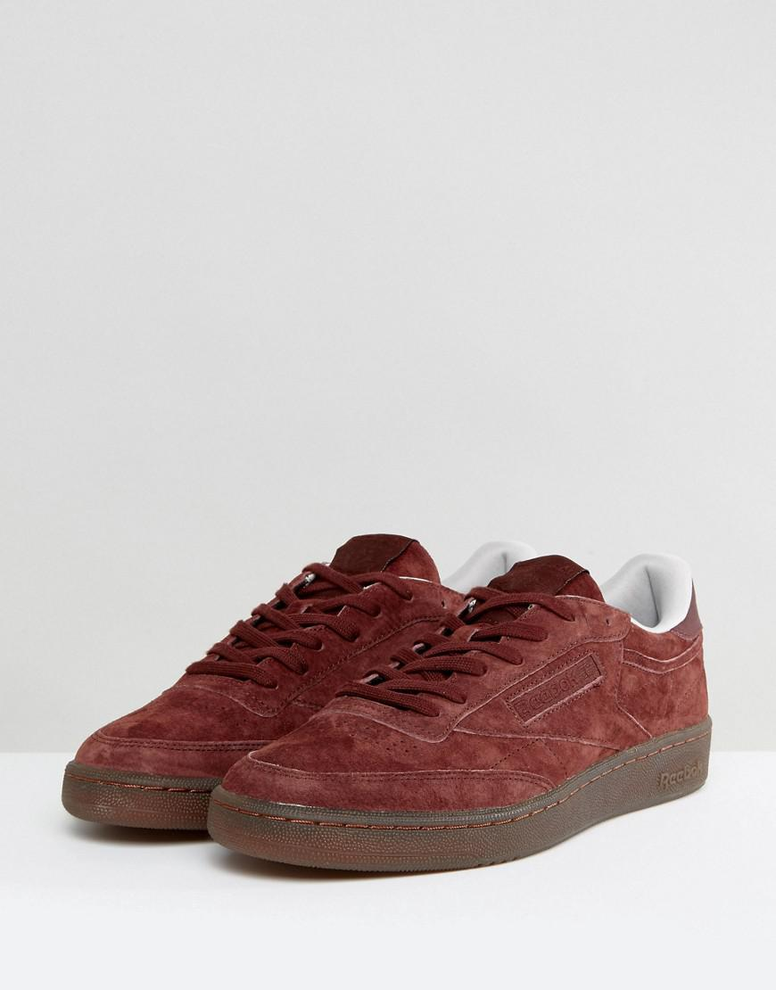 Club C 85 Gum Sole Trainers In Red BS5093 - Red Reebok iblkyzF