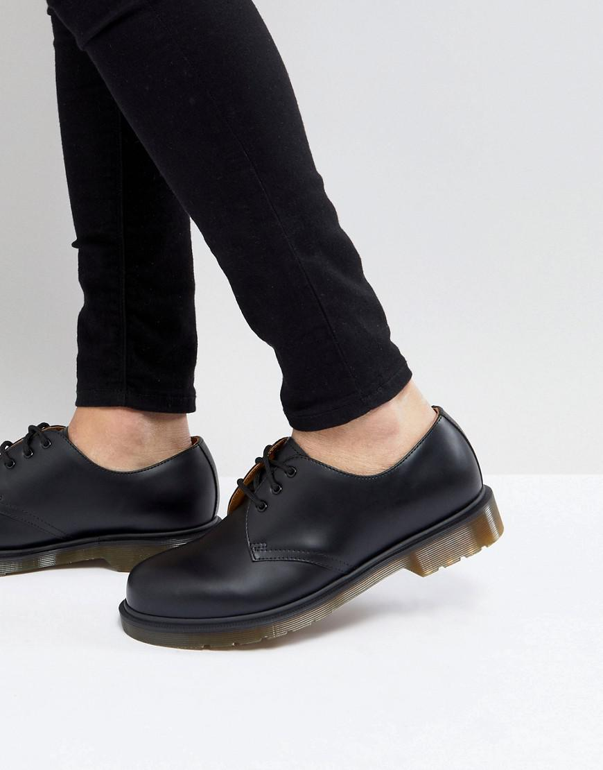 Dr Martens 1461 Pw 3Eye Shoes In Black