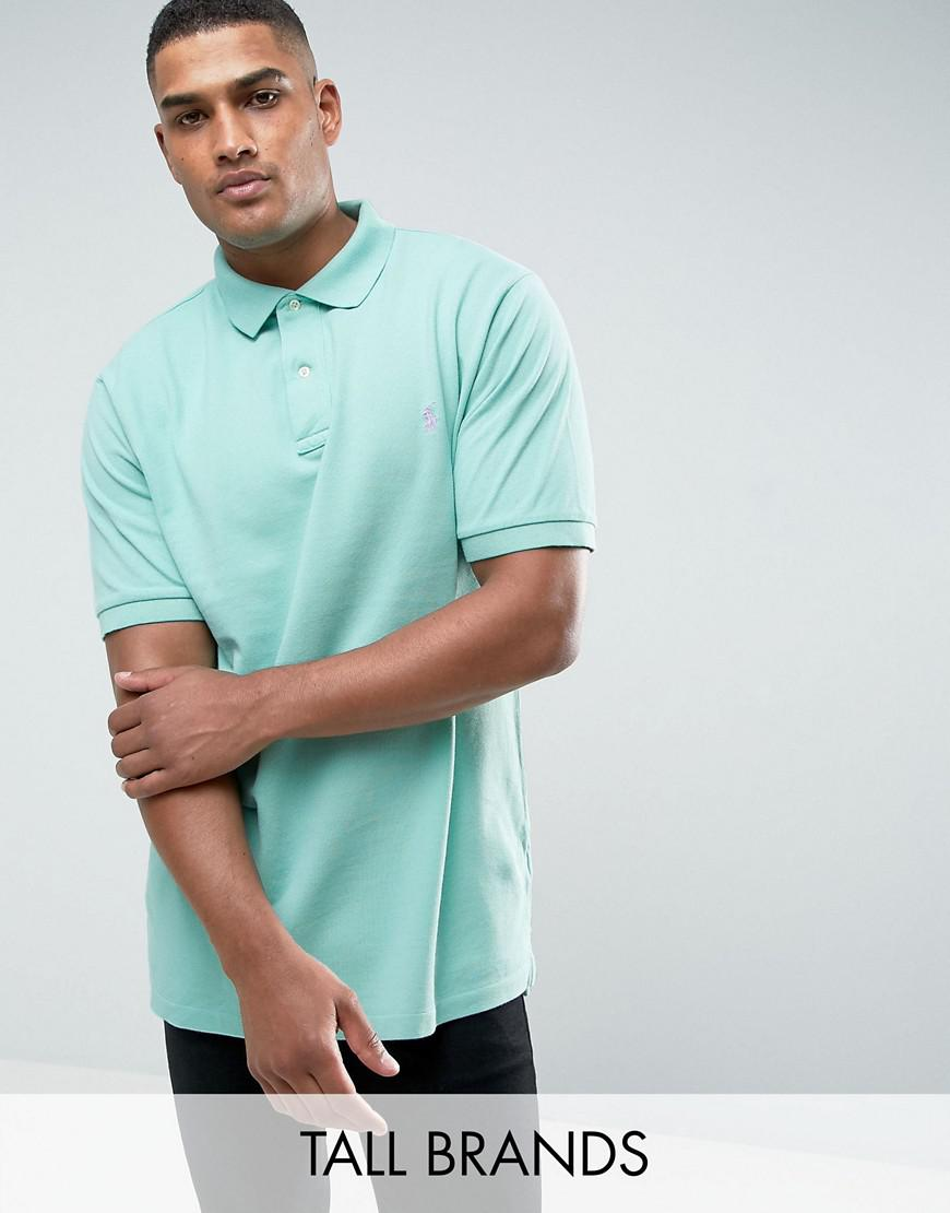 polo ralph lauren tall pique polo slim fit in green