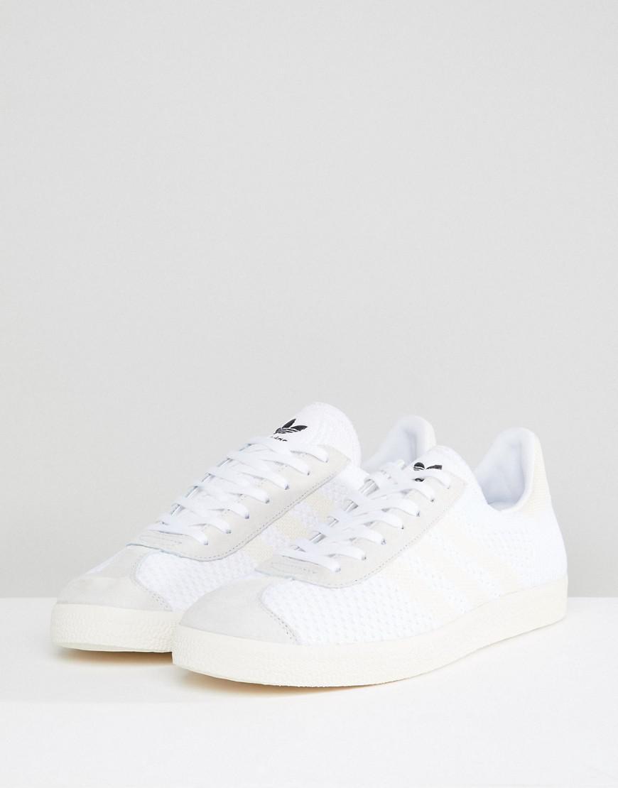 buy popular b1b14 eee02 Adidas Originals Gazelle Primeknit Sneakers In White Bz0005 by Adidas  Originals