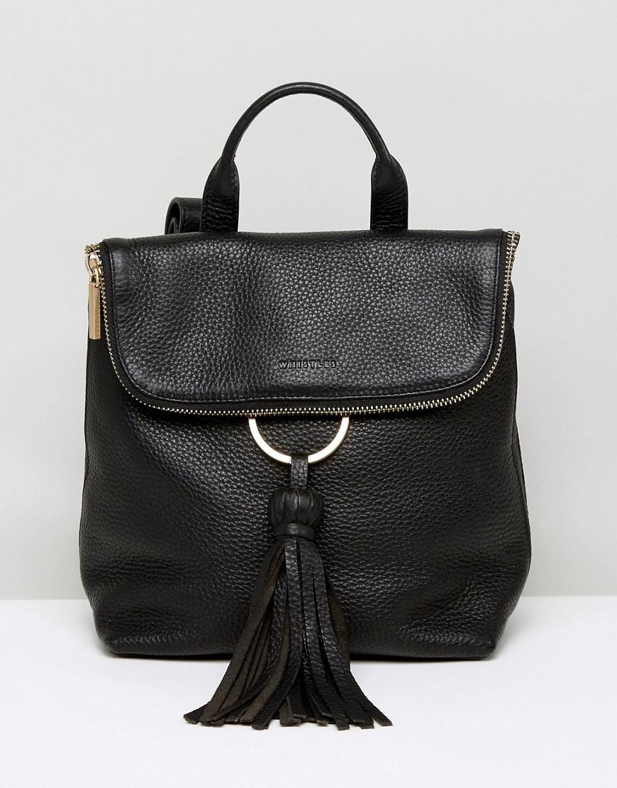 whistles mini verity tassel ring backpack