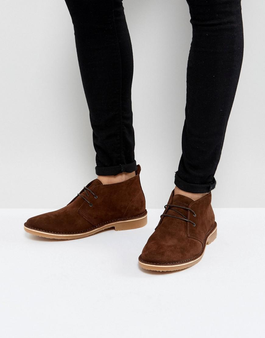 Jack Jones Gobi Suede Desert Boots In