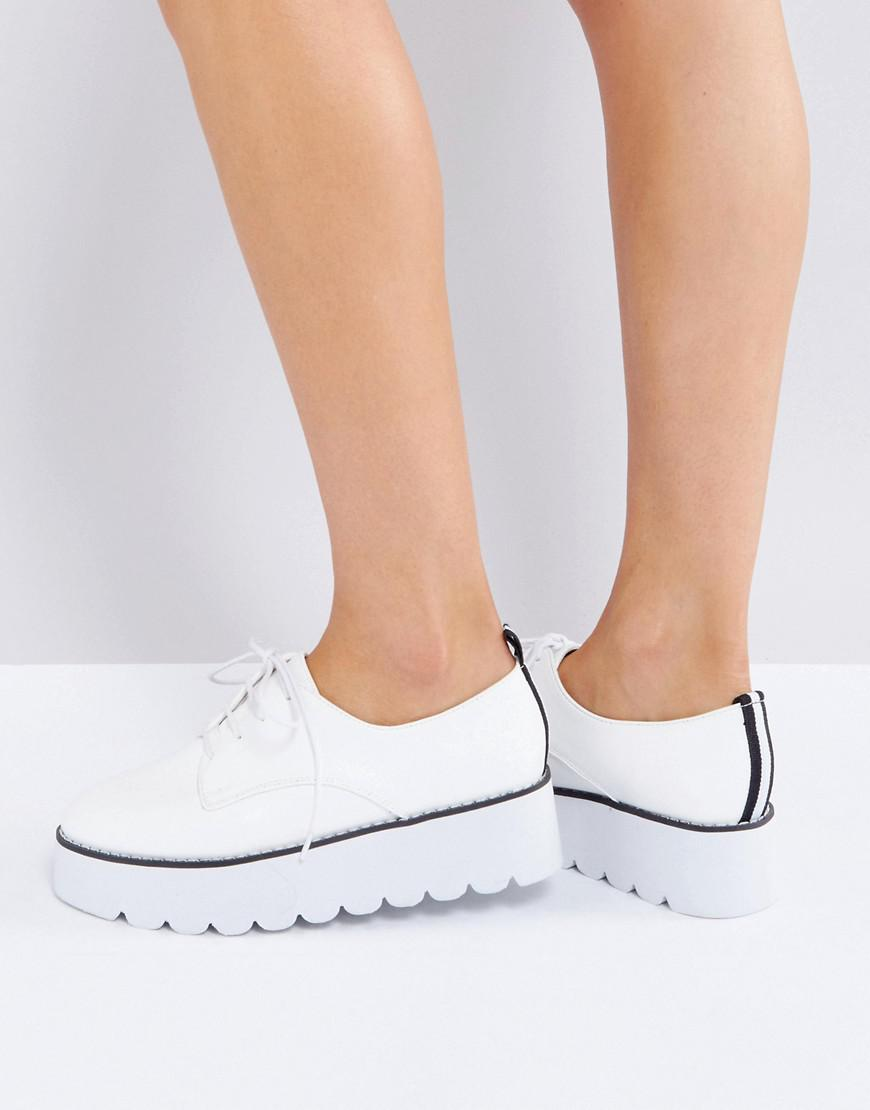 asos misfit chunky flat shoes