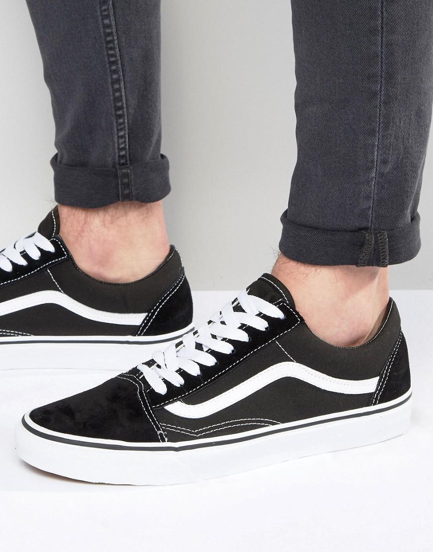 Old Sneakers Vd3hy28 Skool Black Vans In wk80PnO
