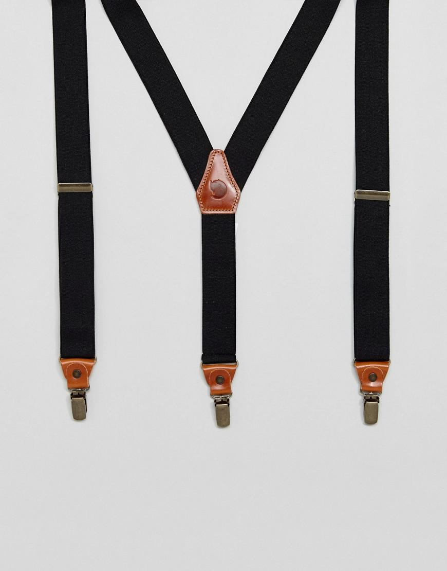 fjallraven singi clip suspenders with leather trims