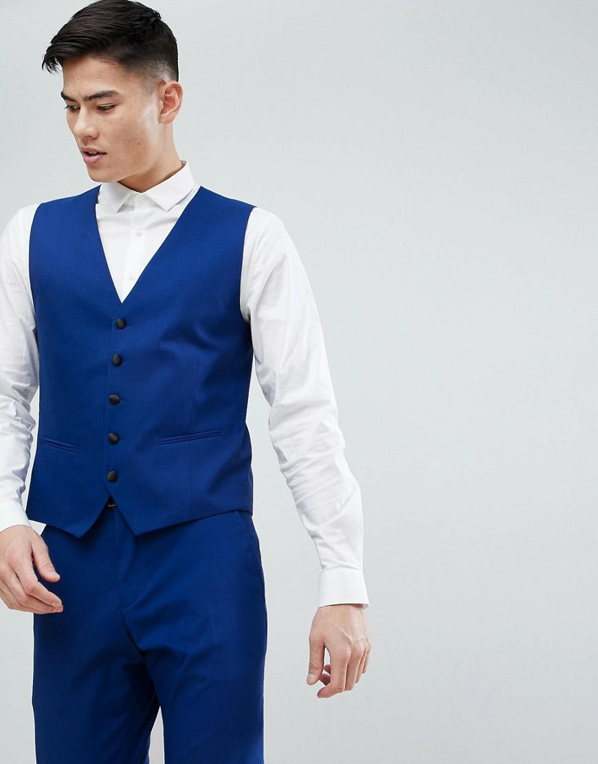 selected homme slim tuxedo vest