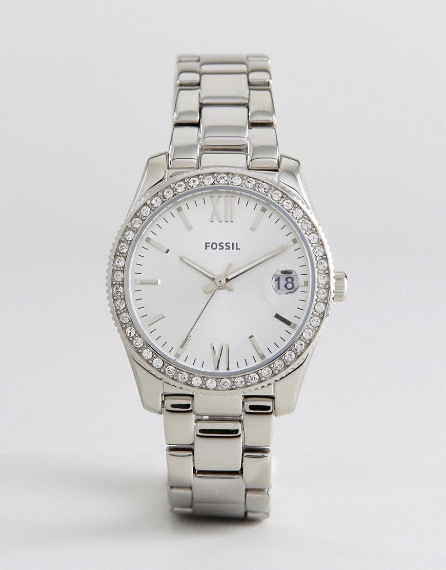 fossil es4317 scarlette mini bracelet watch in silver