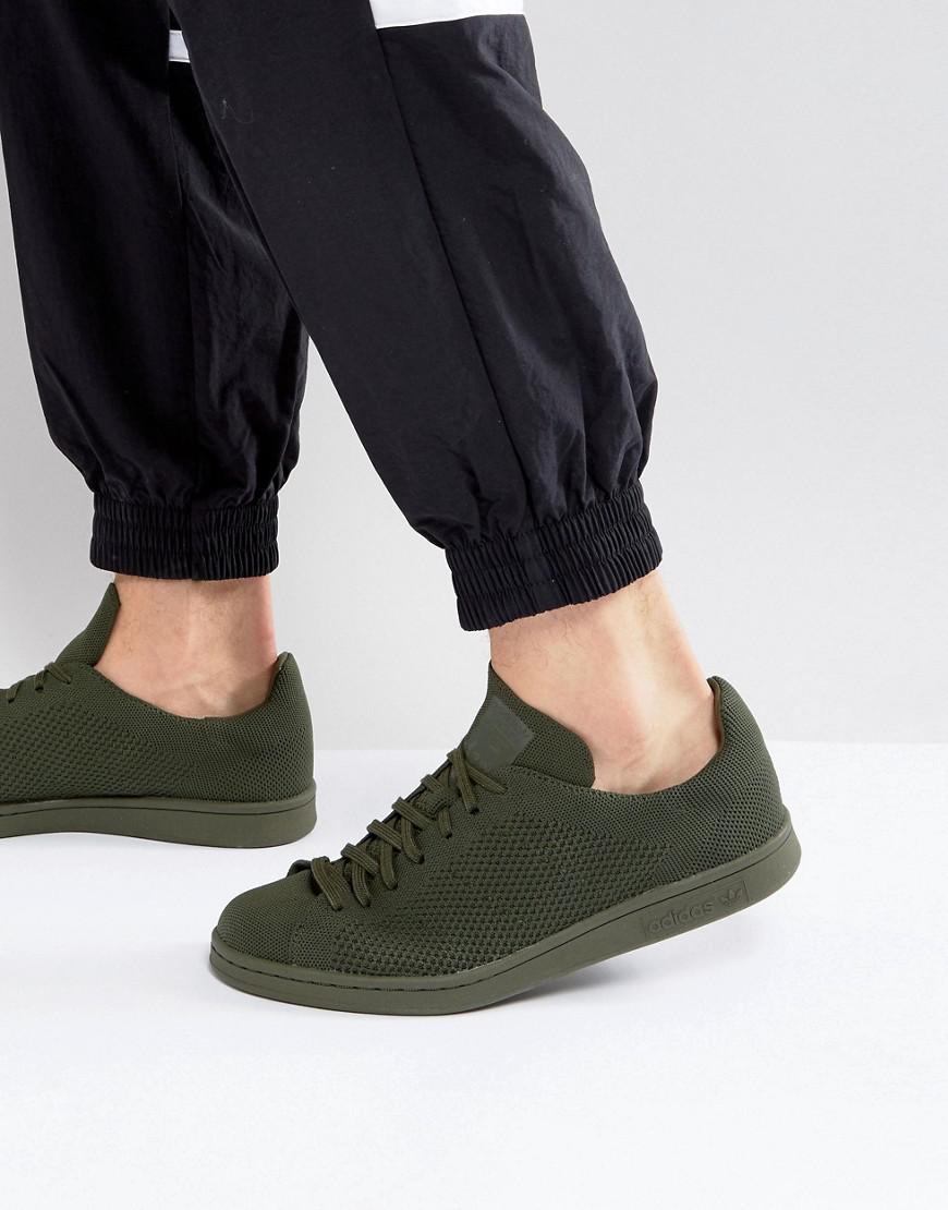 watch 796b5 b2fa0 Adidas Originals Stan Smith Primeknit Sneakers In Green Bz0120