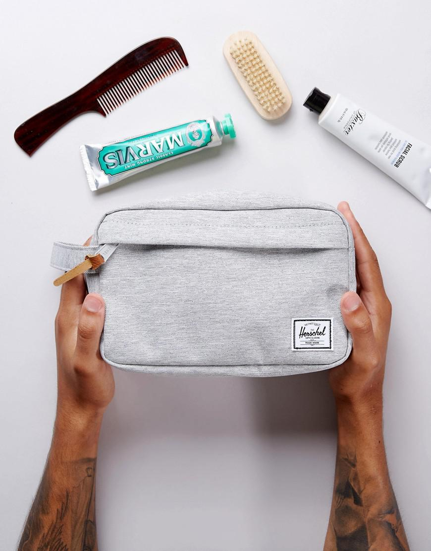 herschel supply co chapter toiletry bag in gray