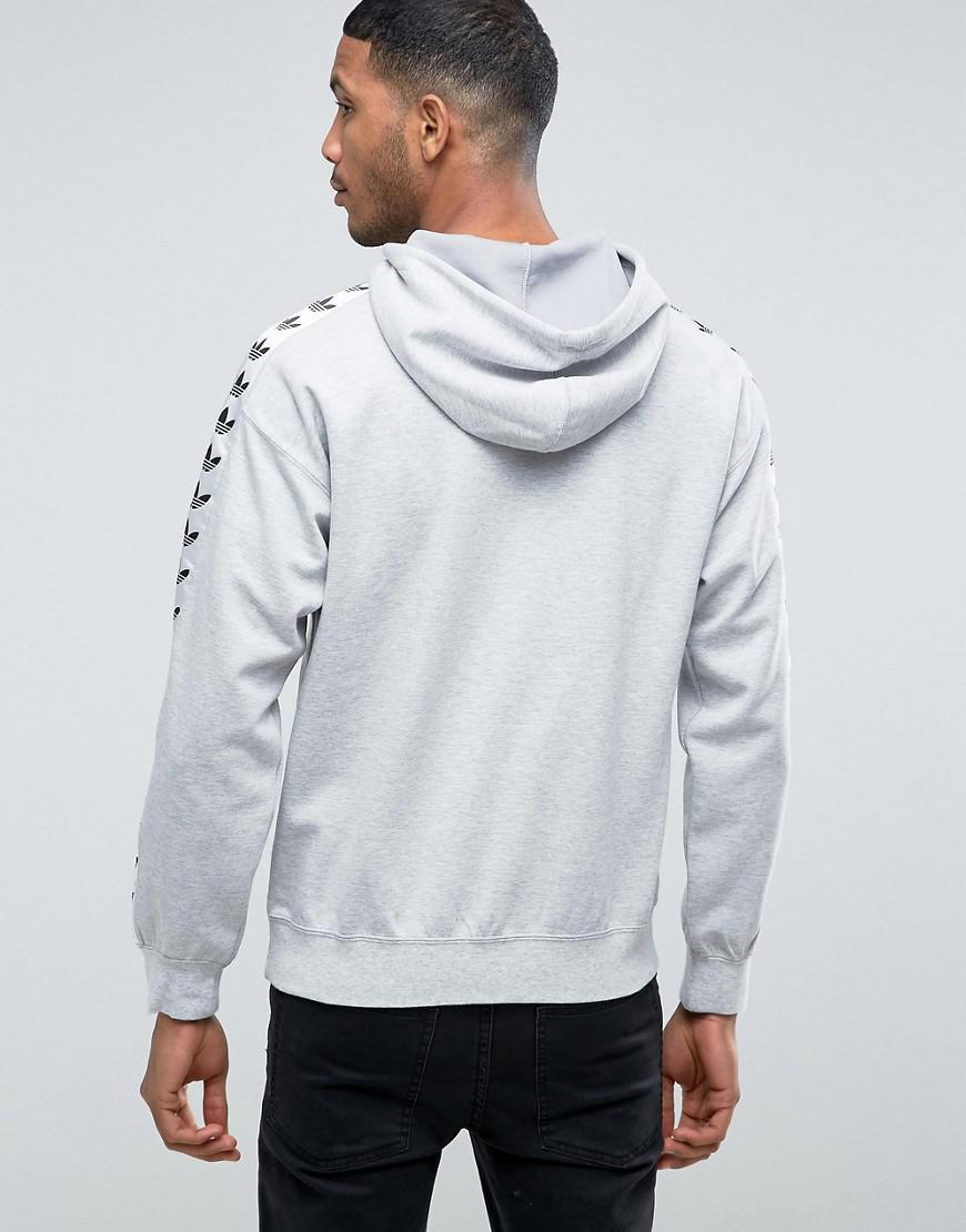 Adidas Originals Adicolor Tnt Tape Hoodie In Gray Bs4683