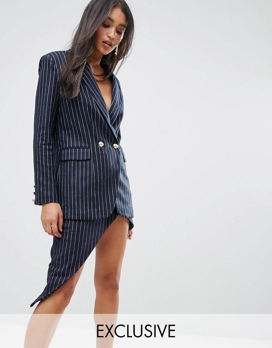 lioness pin stripe blazer