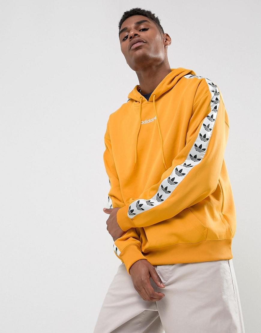 adidas originals adicolor tnt tape hoodie in yellow bs4669