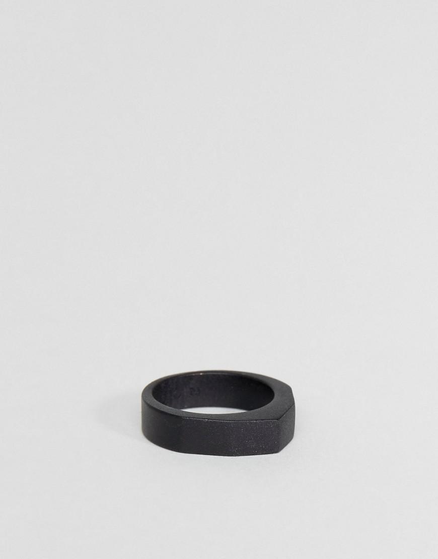 icon brand premium irregular band ring in matte black