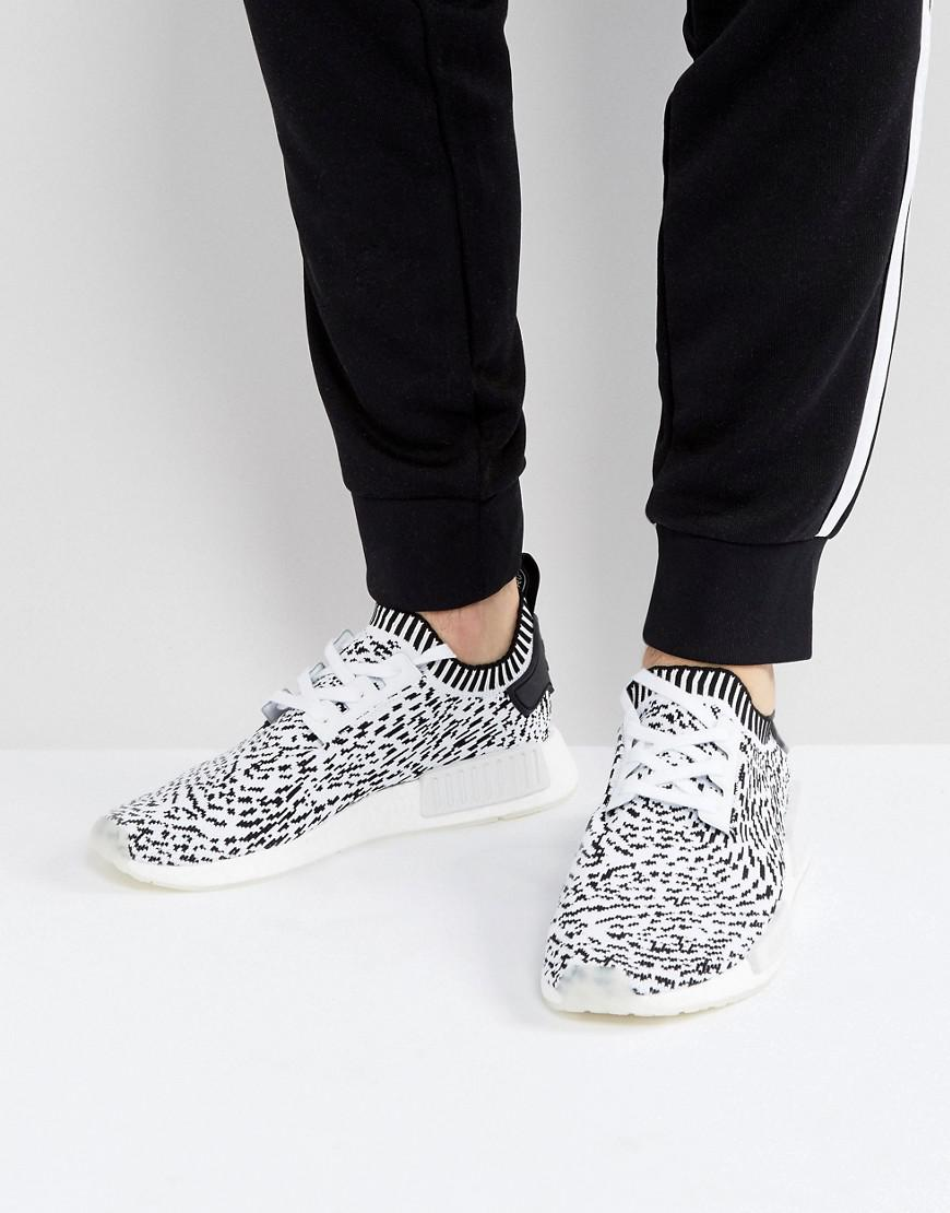 d42d52824000f adidas originals nmd r1 primeknit sneakers in white bz0219