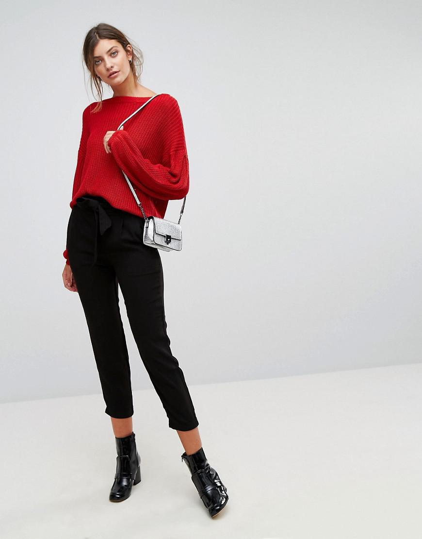 stradivarius paper bag waist pants