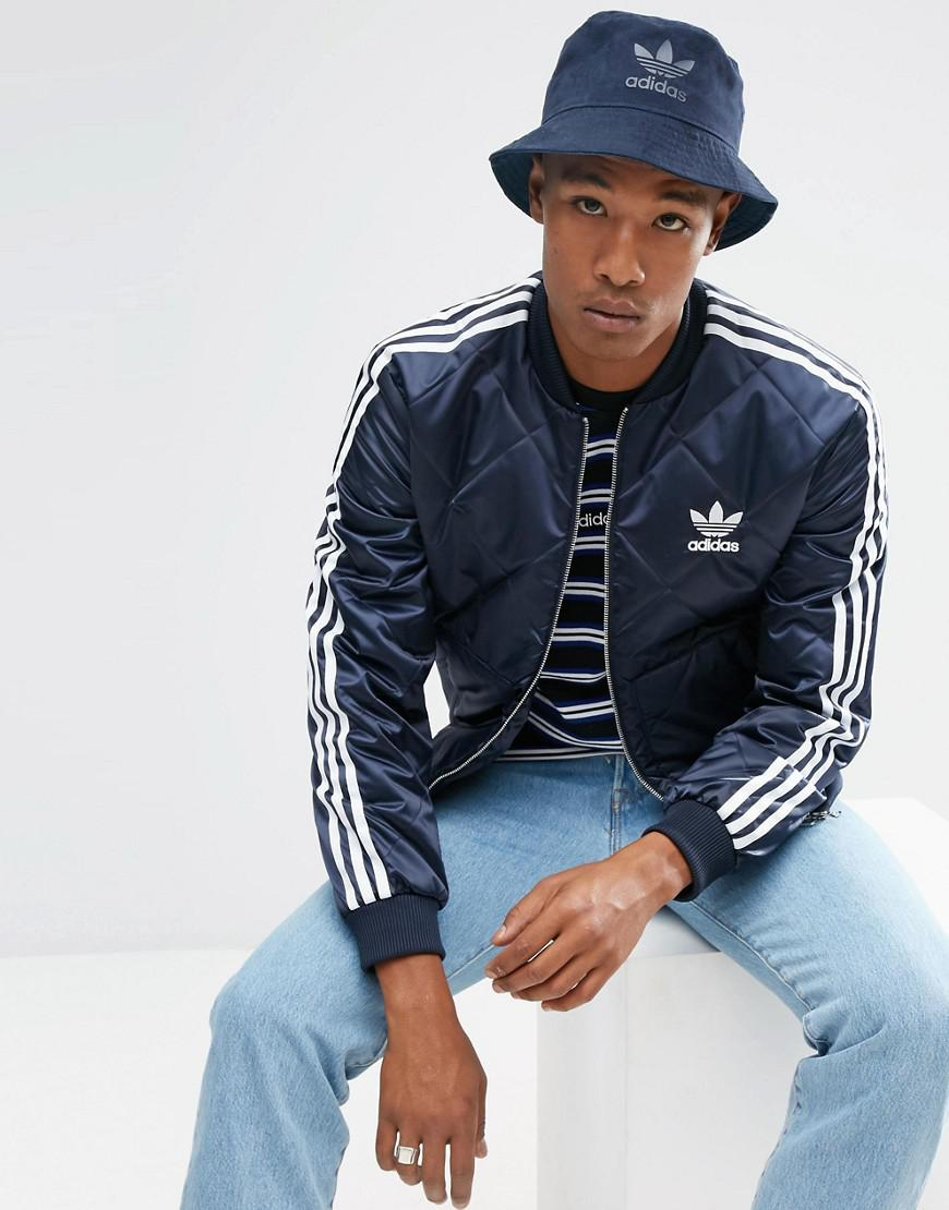 0a5b75d4e0213 adidas originals superstar quilted jacket in navy br7155