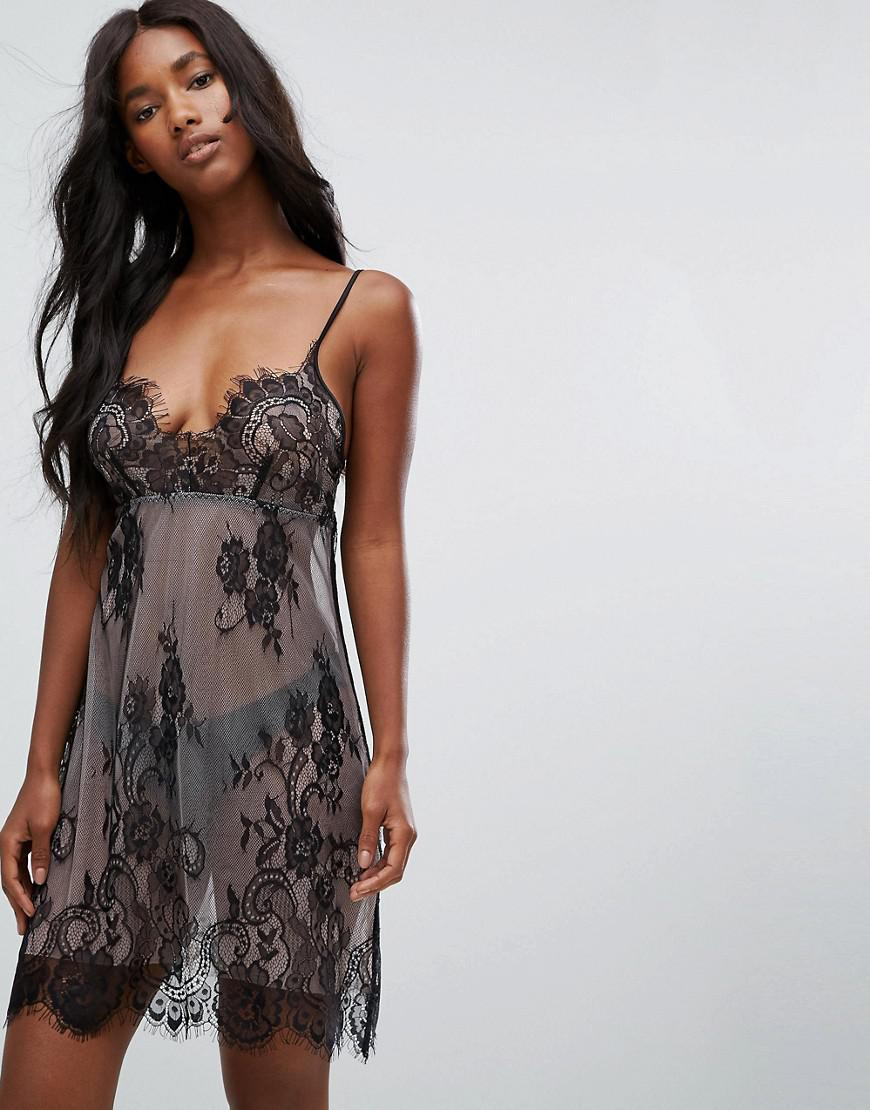 hunkemoller mesh lace nightdress