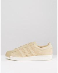 adidas originals superstar 80s sneakers in beige bb2227