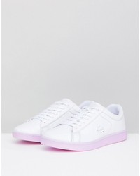 lacoste carnaby evo 118 3 white with purple sole