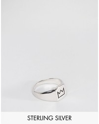 serge denimes crown signet ring in solid silver english